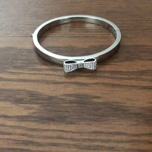 Kate Spade silver bangle with bow 🎀